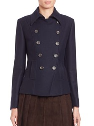 Pauw Wool Cashmere Short Jacket Navy