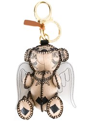 Mcm Cupid Bear Charm Nude And Neutrals