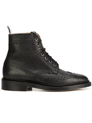 Thom Browne Wingtip Brogue Boots Black