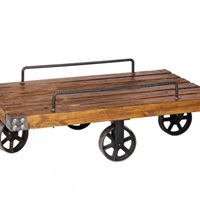 Trolley Cart Coffee Tables Bizarre Industrial Piece For Your Man Cave