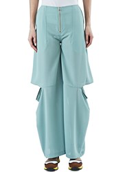 Eckhaus Latta Wide Flared Slit Pants Green