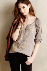 Anthropologie Lore Henley Taupe