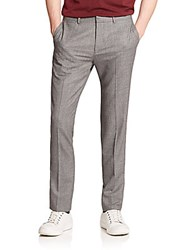 Theory Marlo Slim Fit Wool Blend Trousers Grey