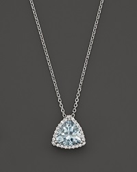 Bloomingdale's Aquamarine And Diamond Pendant Necklace In 14K White Gold 16 White Multi