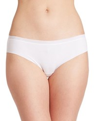 Dkny Solid Microfiber Hipsters White