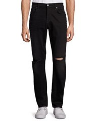 7 For All Mankind Straight Fit Five Pocket Jeans Indie Black