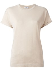Brunello Cucinelli Lurex T Shirt Nude And Neutrals