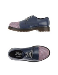 Lace Up Shoes Dark Blue