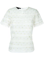 Marc By Marc Jacobs Lace Insert T Shirt Blouse White