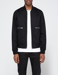 Topman Black Cotton Bomber Jacket