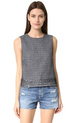 Diane Von Furstenberg Piece And Co Gaby Top Black White