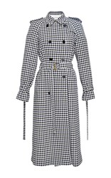 Sonia Rykiel Plaid Long Trench Coat