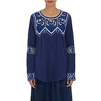 Sea Women's Guipure Lace Inset Top Blue