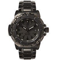 Luminox F 177 Nighthawk 6400 Series Stainless Steel Watch Black