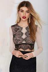 Nasty Gal All In Lace Crop Top