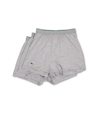 Lacoste Essentials 3 Pack Knit Boxer Grey Men's Underwear Gray
