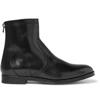 Jimmy Choo Pablo Shearling Lined Leather Boots Black