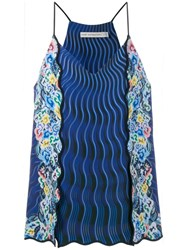 Mary Katrantzou Rainbow Cloud Printed Cami Top Blue