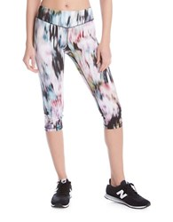 Karen Kane Active Crop Pants Blue Multi