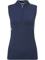 Callaway Linear Sleeveless Polo Navy