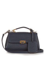 Balenciaga Le Dix Soft Nano Leather Cross Body Bag Navy