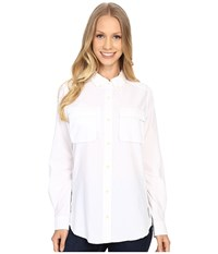 Exofficio Air Strip Long Sleeve Shirt White Women's Long Sleeve Button Up