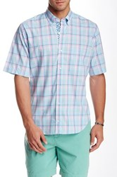 Tailorbyrd Madras Short Sleeve Shirt Green