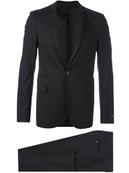 Les Hommes Two Piece Suit Black