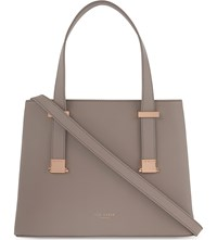 Ted Baker Lexia Grained Leather Tote Mid Purple