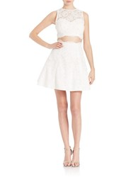 Xscape Evenings 2 Piece Crop Top And Skirt Set Ivory