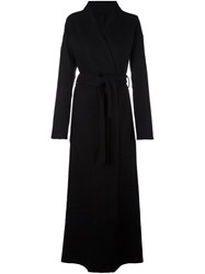 Unravel Wrap Long Coat Black