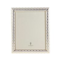 L'objet Chevron Frame Gold And White 8X10
