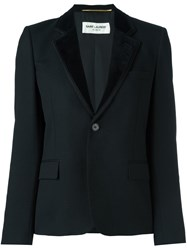 Saint Laurent Single Button Blazer Black