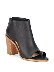 Loeffler Randall Gigi Open Toe Leather Booties Black