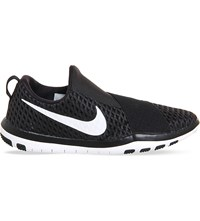 Nike Free Connect Mesh Slip On Trainers Black White