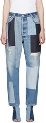 Off White Blue Patchwork Levi's Edition Jeans