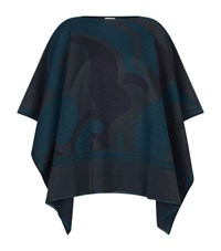 Escada Sport Graphic Print Cape Female Blue