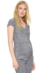 Beyond Yoga Featherweight Space Dye V Neck Maternity Tee Black White