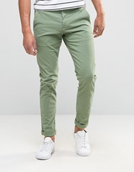 Selected Homme Skinny Fit Chino Sea Spray Green