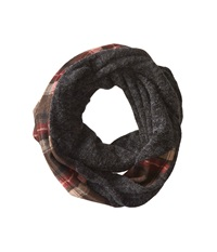 San Diego Hat Company Bss1419 Tartan Infinity Plaid Scarf With Blend Panel Brown Scarves