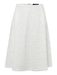 Episode All Over Lace Midi Skirt White
