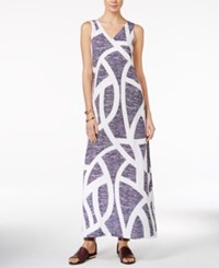 Armani Exchange Printed Maxi Dress A Macy's Exclusive Fancy Blue