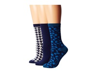 Sperry Leopard Navy Women's Crew Cut Socks Shoes