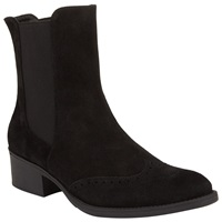 John Lewis Trieste Flat Chelsea Ankle Boots Black Suede