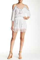 Romeo And Juliet Couture Cold Shoulder Mini Dress White