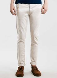 Topman Off White Stretch Skinny Chinos Grey
