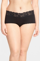 Cosabella 'Never Say Never' Low Rise Boyshorts Plus Size Black