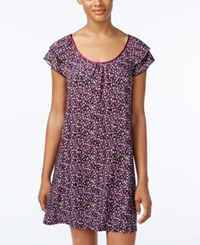 Alfani Satin Trimmed Printed Nightgown Only At Macy's Mini Berry