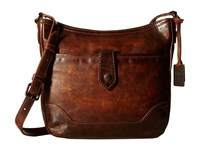 Frye Melissa Button Crossbody Dark Brown Cross Body Handbags