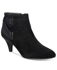 Alfani Women's Vandela Ankle Booties Only At Macy's Women's Shoes Black Suede